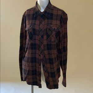 Zoo York plaid button up size S